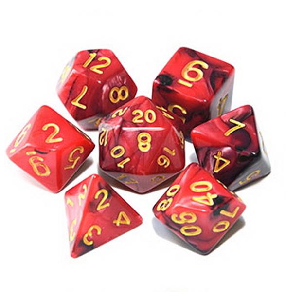 Crimson Night - Red / Dark Red Dice Set