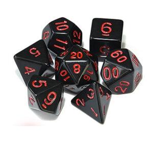 Raven Black Dice Set - Red