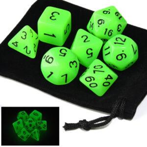 Glow in the Dark – Green Dice Set