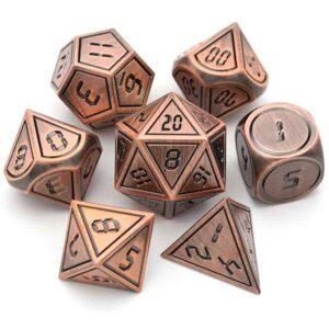 Neo Copper Metal Dice Set
