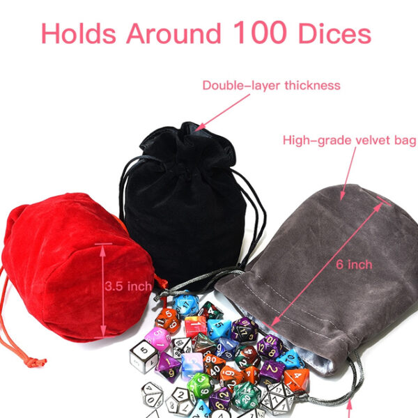 Red Bag of Holding Dice Bag
