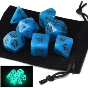 Glow in the Dark – Blue Dice Set