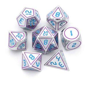 Neo Vortex Blue Metal Dice Set