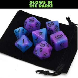 Glow in the Dark – Purple / Blue Dice Set