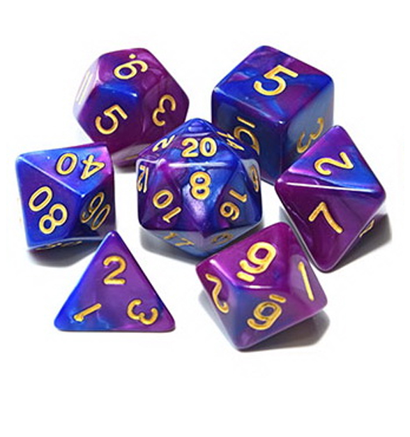 Cultist Purple - Purple / Dark Purple Dice Set