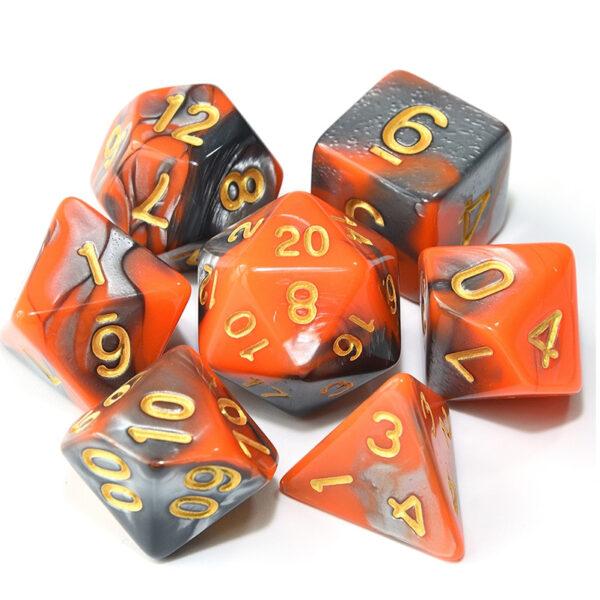 Dragonwrath - Orange / Black Dice Set