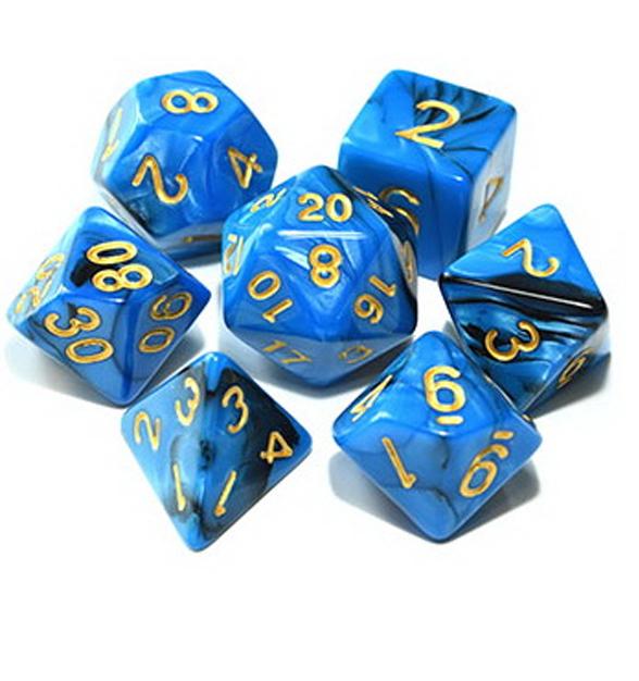 Mythical Blue - Blue/Black Dice Set
