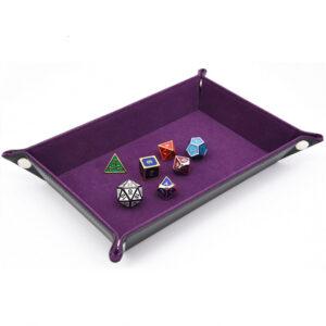 Dice Tray - Rectangle Tray w/ Purple Velvet