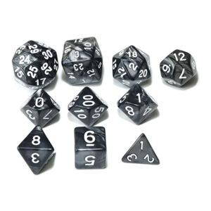 RPG Dice Set - Black