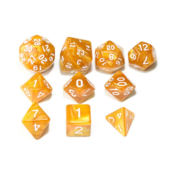 RPG Dice Set - Brown