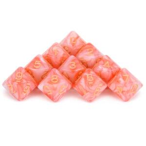 D10 x 10 Pink Dice