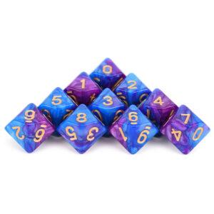 D10 x 10 Wizard Purple Dice