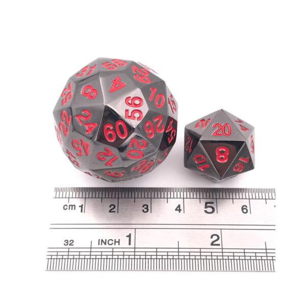 D60Metal Dice - Black Red
