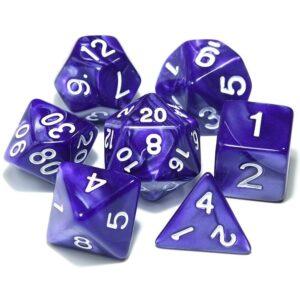 DnD Dice Purple /w White
