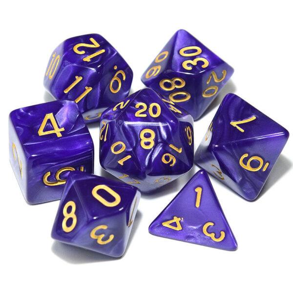 DnD Dice Purple /w Gold