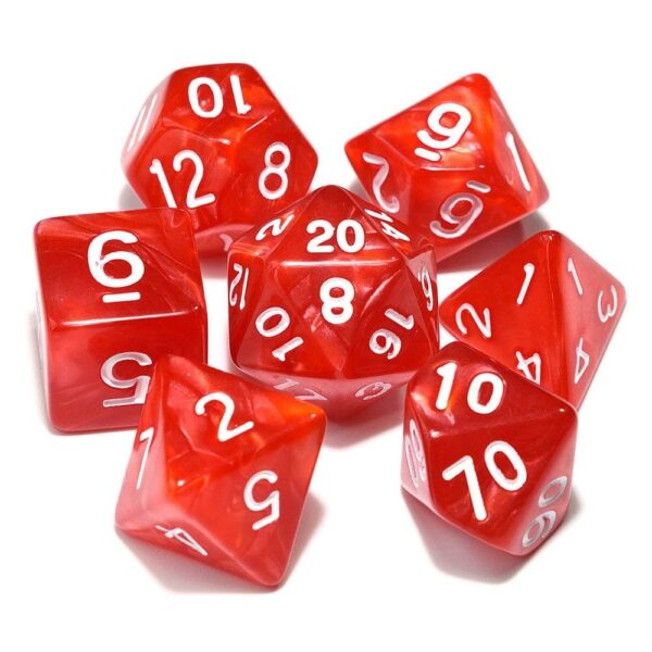 DnD Dice Red /w White
