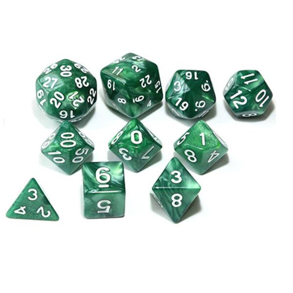 RPG Dice Set - Green