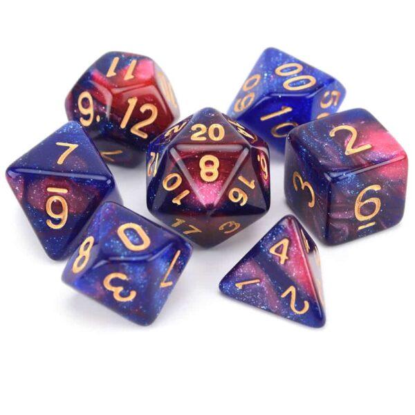Galaxy Nebula Dice – Purple / Red