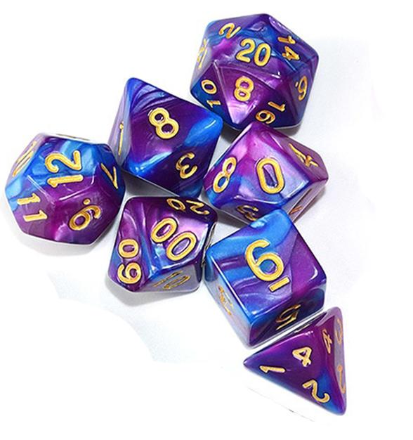 Wizard Purple Blue Dice Set
