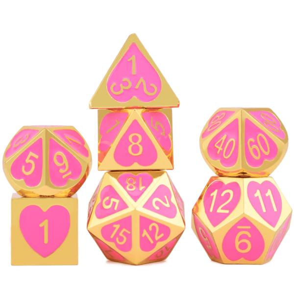 Metal Dice - Pink Heart