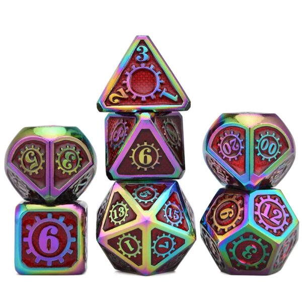 Metal Dice - Steampunk Scorched