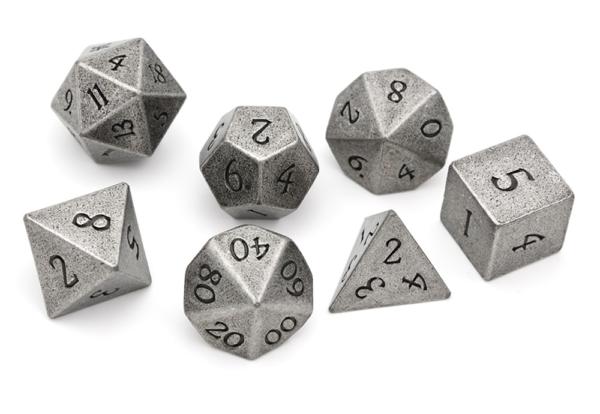 Metal Dice - Battle Silver