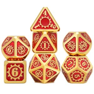 Metal Dice - Steampunk Red